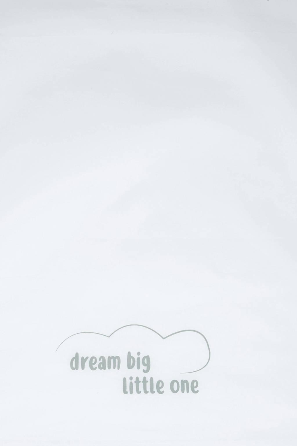 Little Lemonade wieglaken 75x100 cm wit/grijs