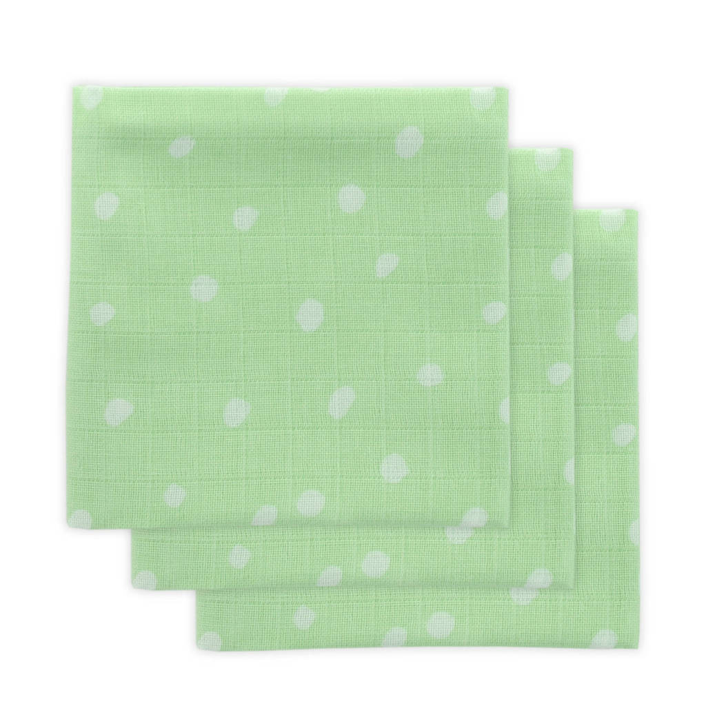 Little Lemonade hydrofiele luier groen stip - set van 3, Groen