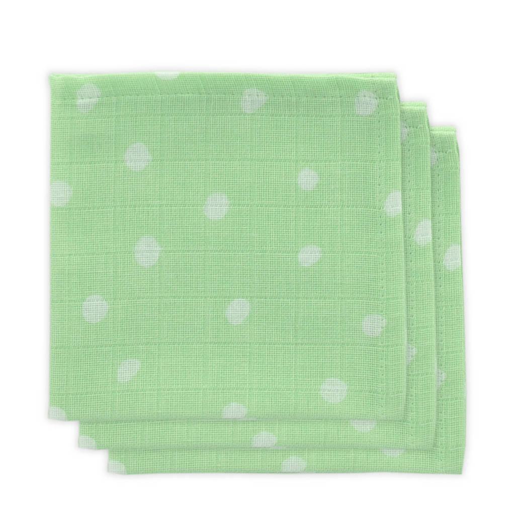 Little Lemonade hydrofiele monddoekjes groen stip - set van 3, Groen