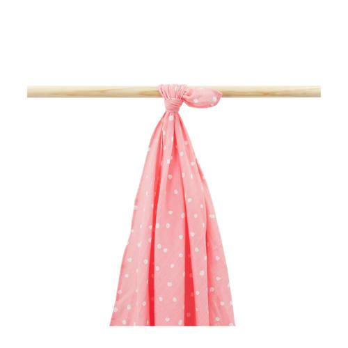 Little Lemonade hydrofiele multidoek 115x115 cm roze stip kopen