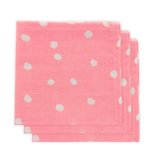 Little Lemonade hydrofiele monddoekjes roze stip - set van 3