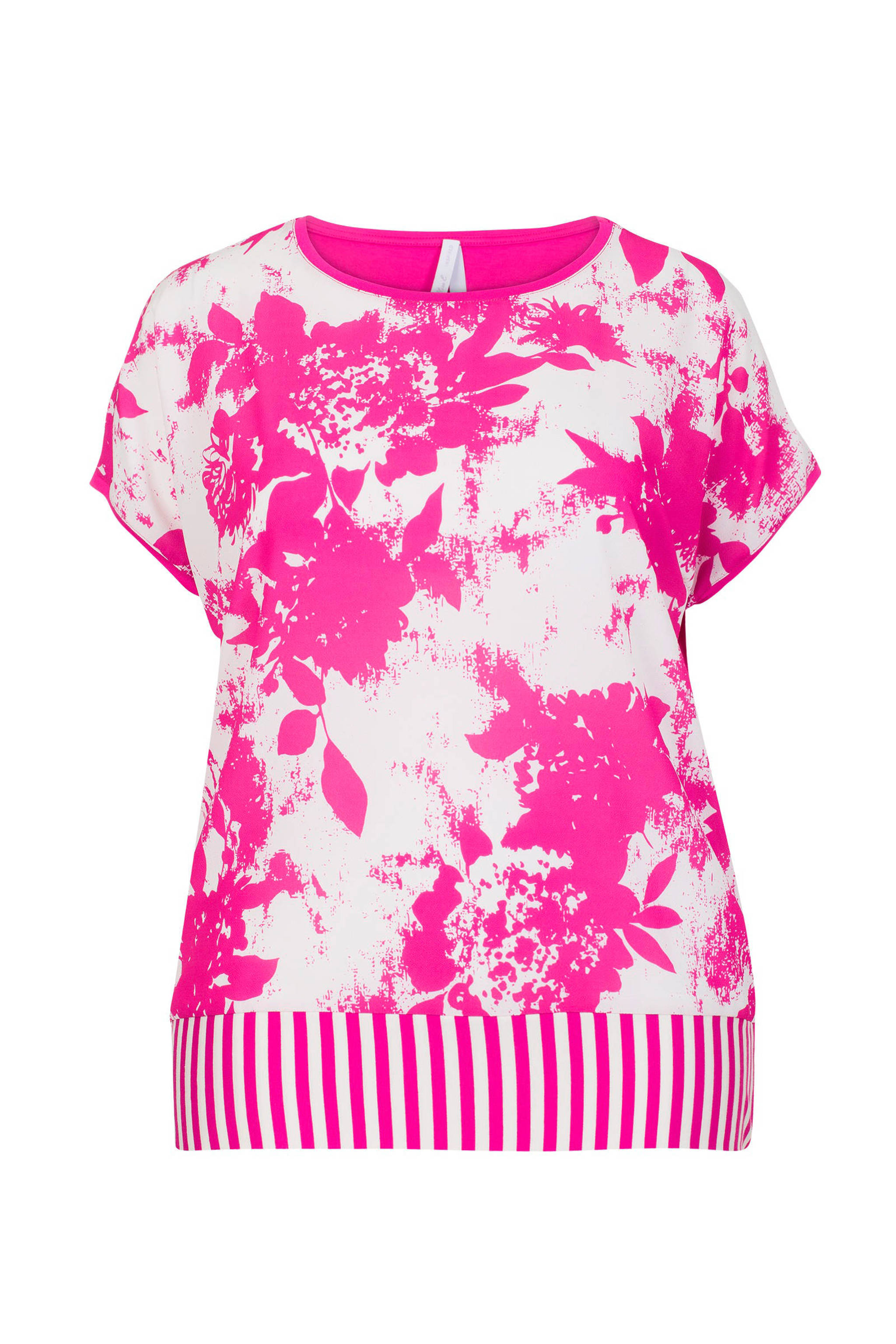 93473972f2 Miss Etam Plus gebloemde top roze/ wit | wehkamp