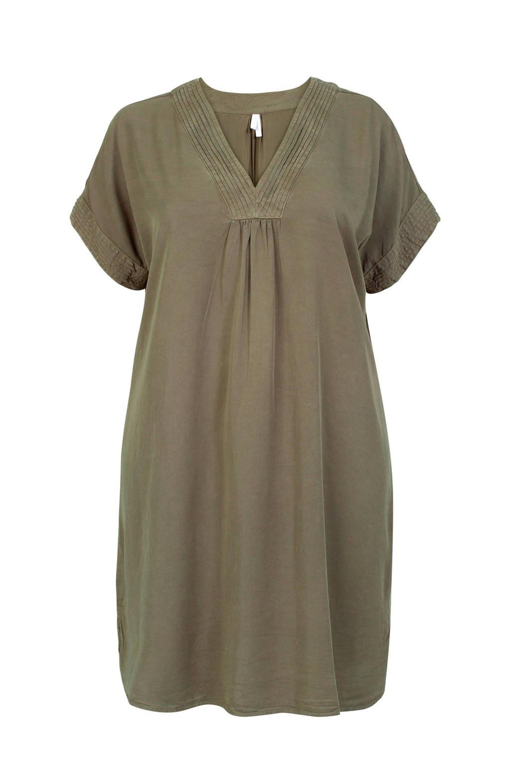Miss Etam Plus jurk kaki, Groen