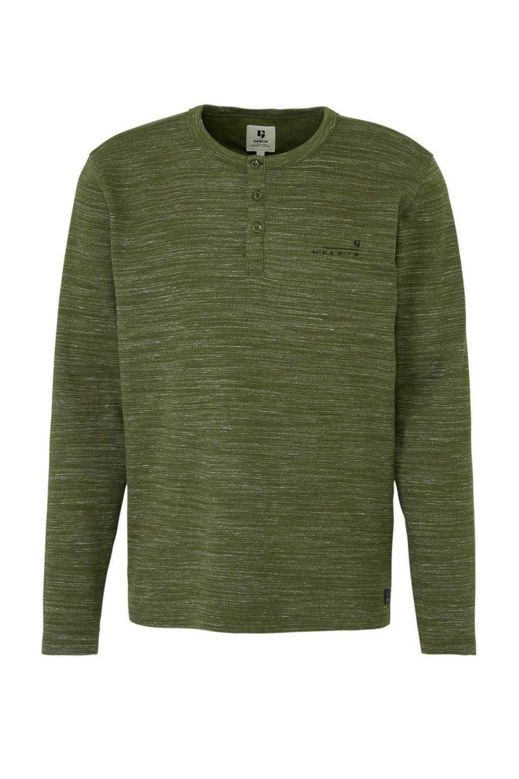 Garcia gemêleerd T-shirt groen, Groen
