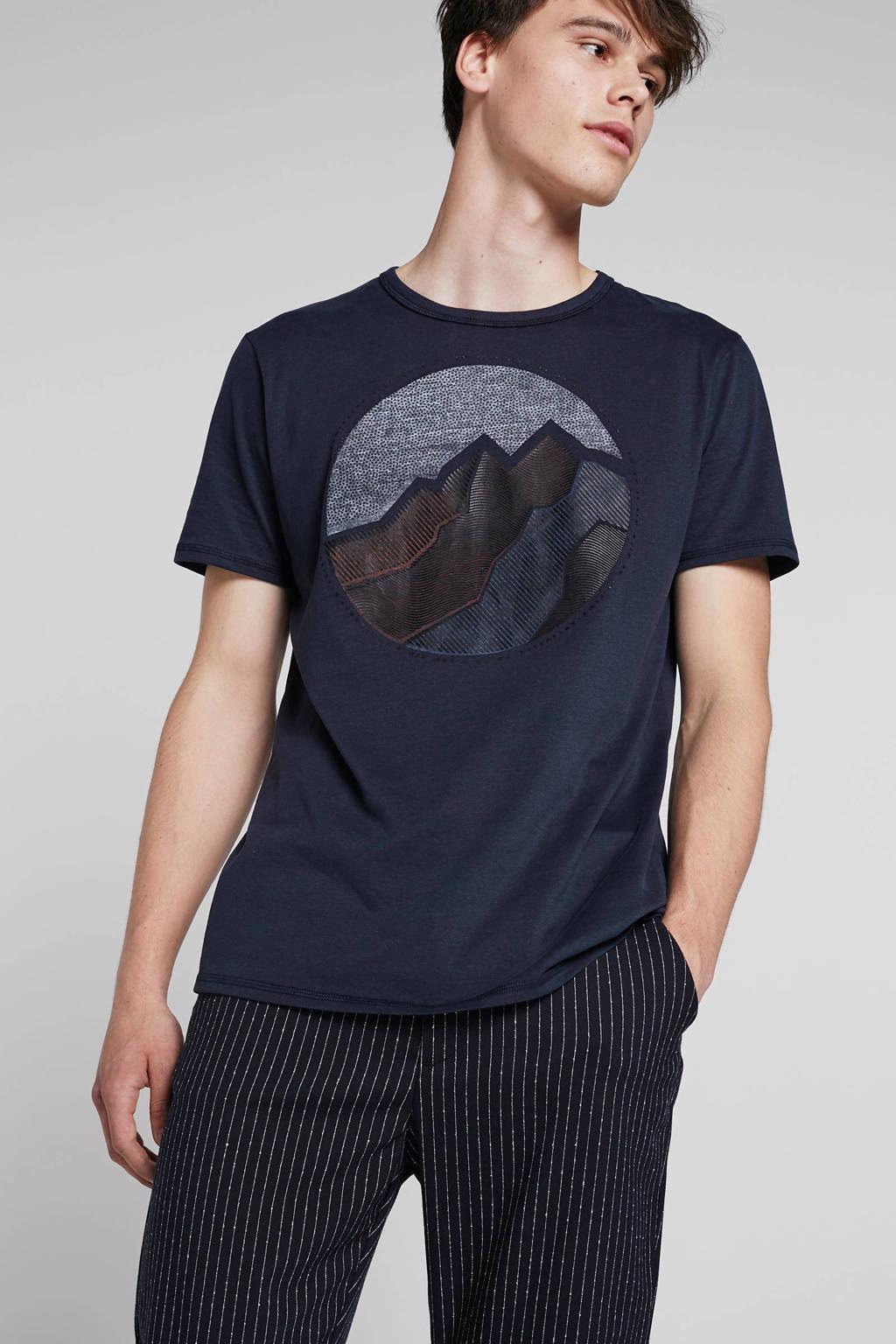 Garcia T-shirt donkerblauw, Donkerblauw