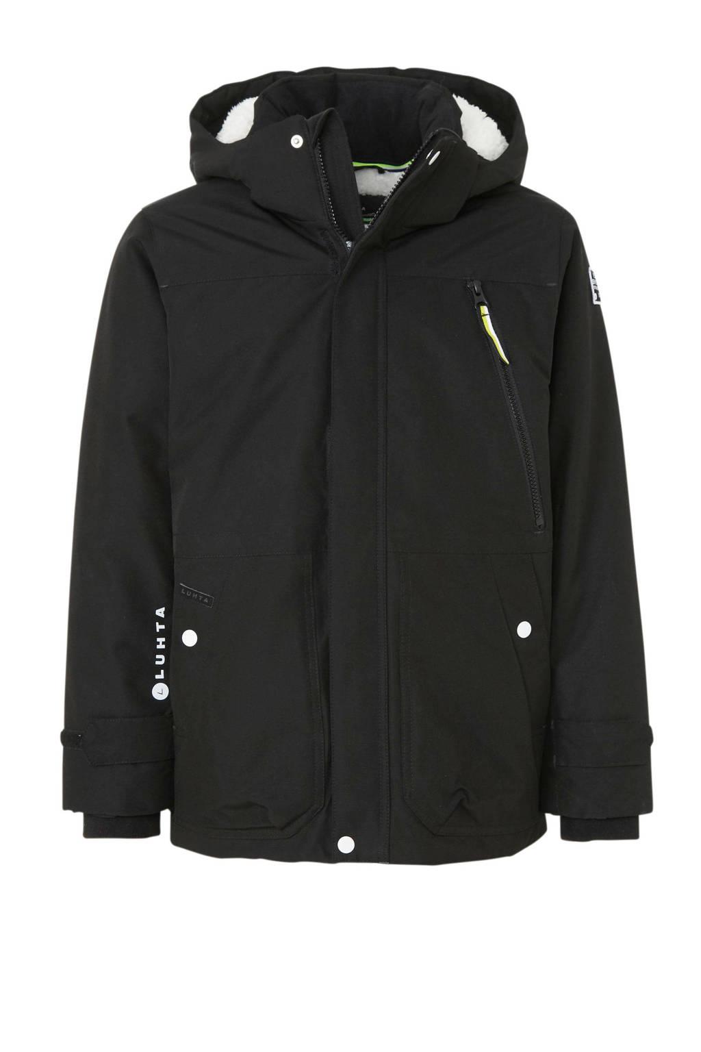 Luhta winterjas Lenka zwart, Zwart