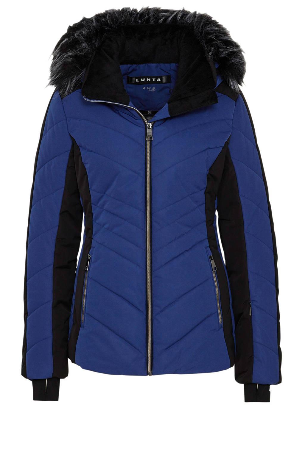 Luhta ski-jack Jalasjoki blauw, Blauw/zwart