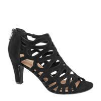 5th Avenue   suède sandalettes zwart, Zwart