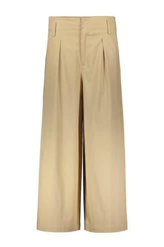 high waist palazzo broek beige