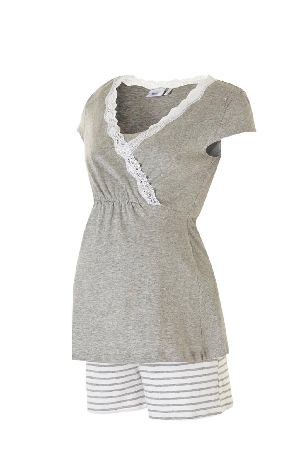 C&A Yessica positie pyjama (2-delig) grijs/wit, Grijs/wit
