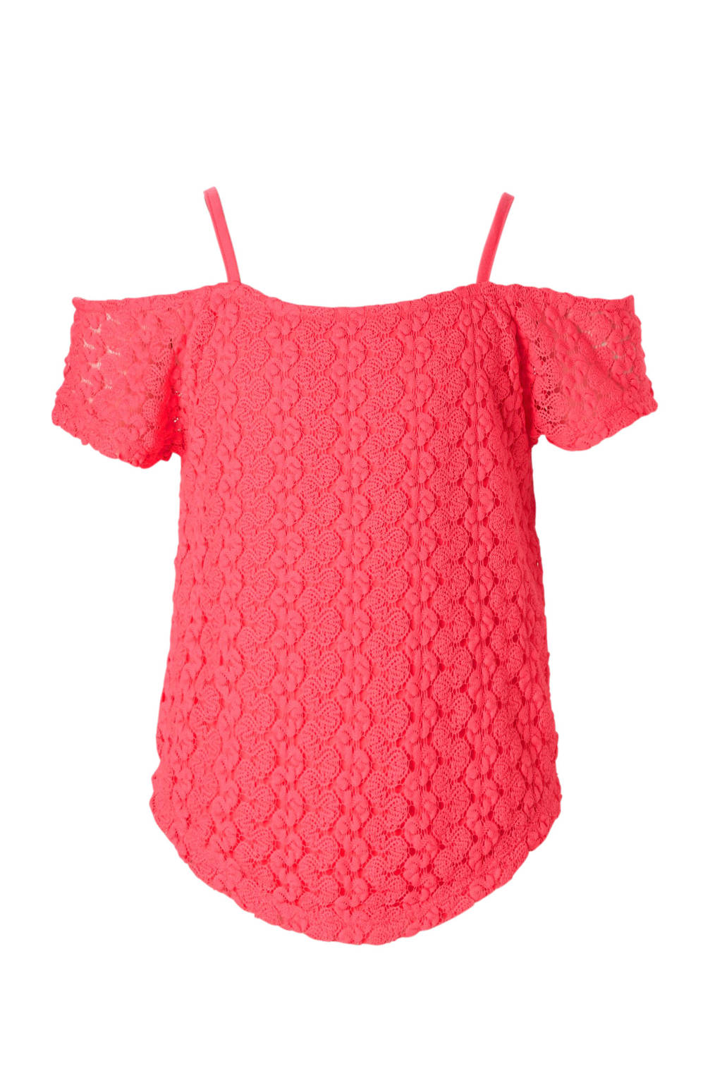 C&A Here & There kanten open shoulder top roze, Roze