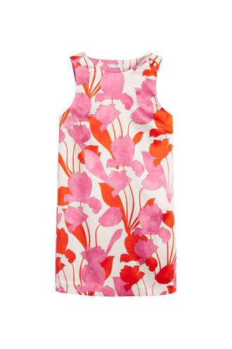 jurk met bloemenprint roze
