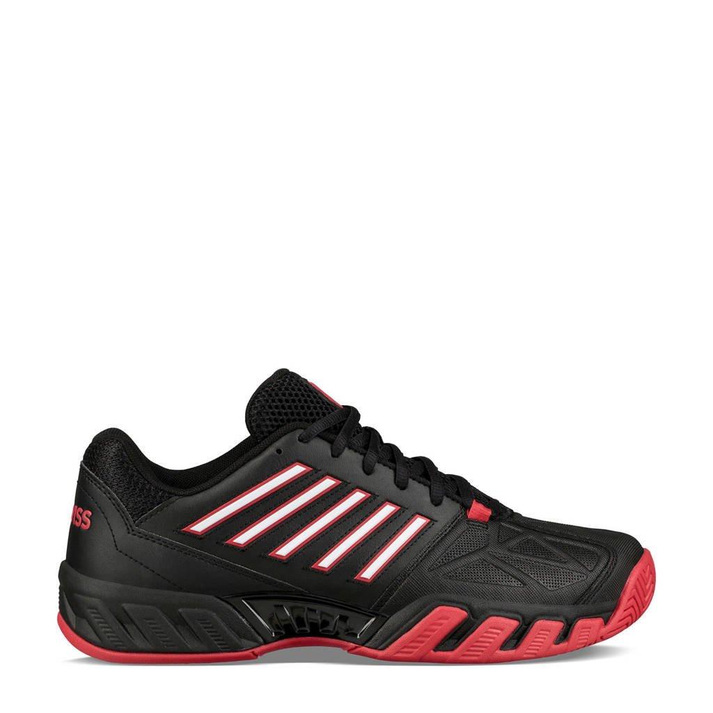 K-Swiss  Bigshot Light 3 Bigshort Light 3 Omni tennisschoenen zwart/rood/wit, Zwart/rood/wit
