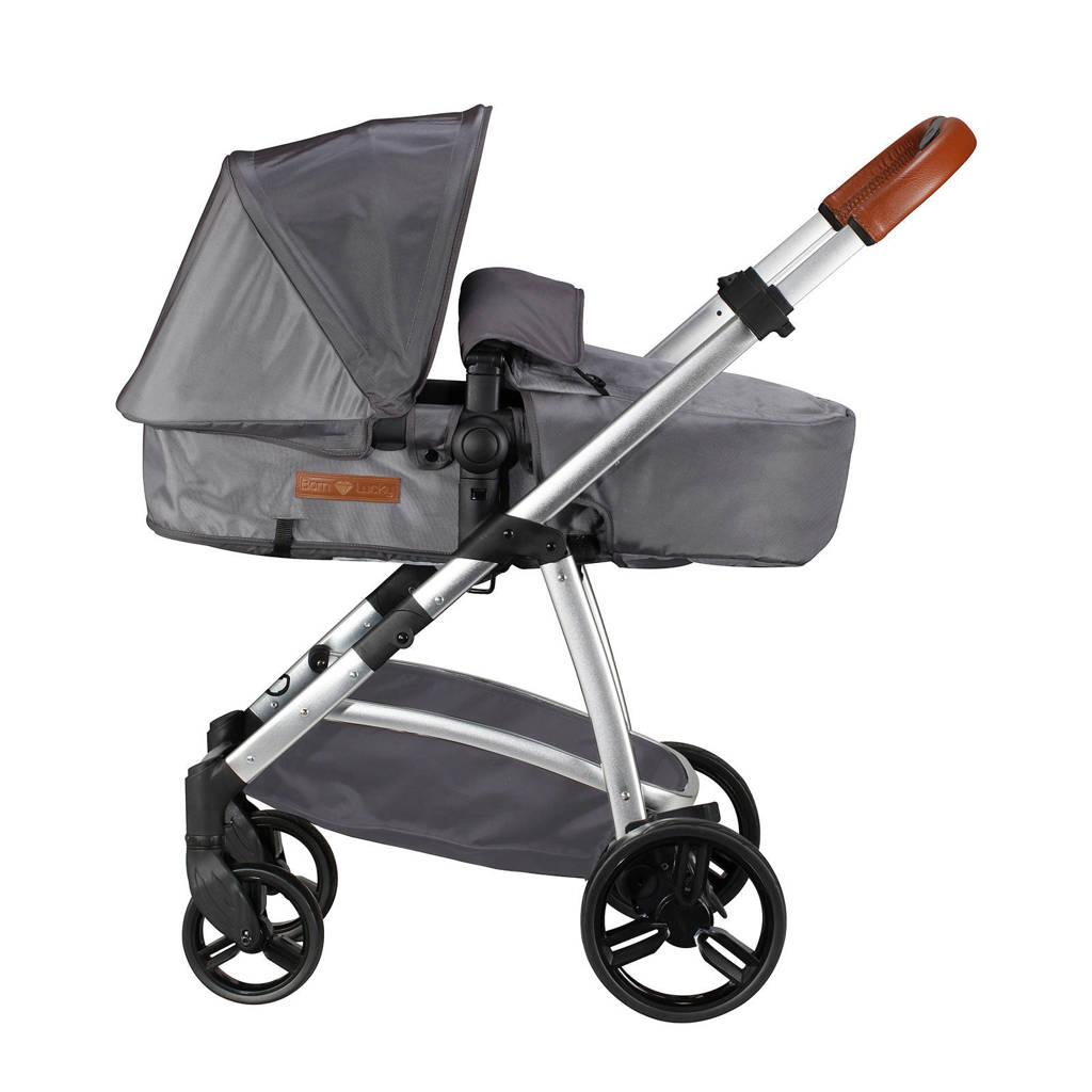 Born Lucky kinderwagen+autostoel+adapters, Grijs