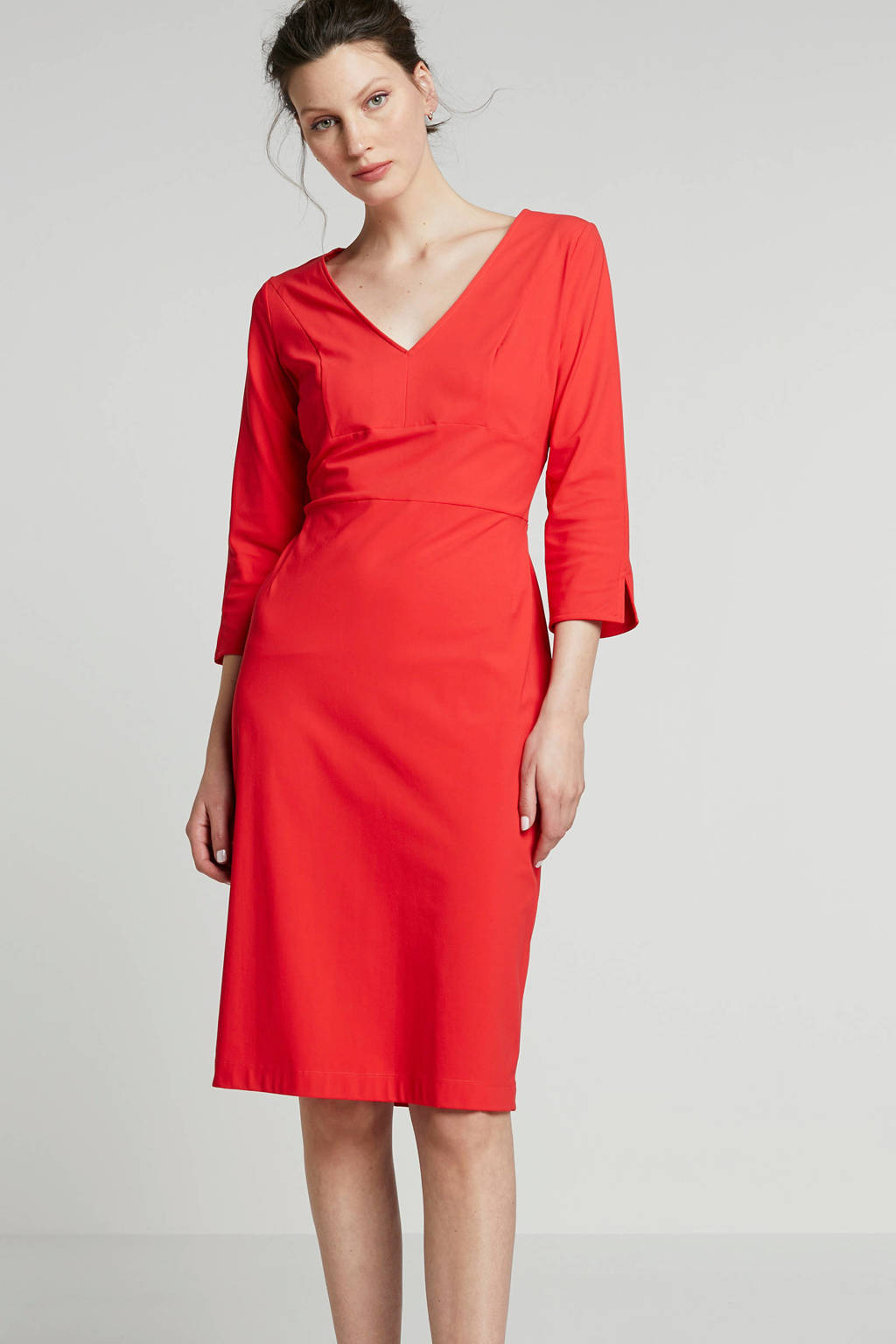 LaDress Elizabeth jurk in travel kwaliteit rood, Rood