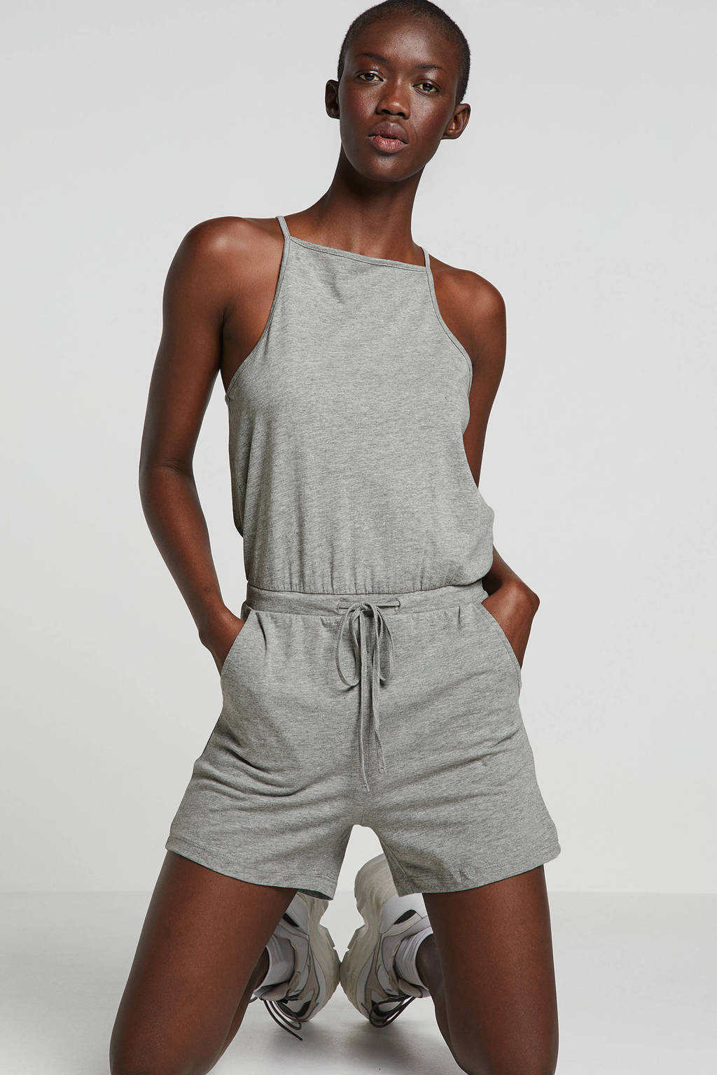Noisy may playsuit grijs, Grijs
