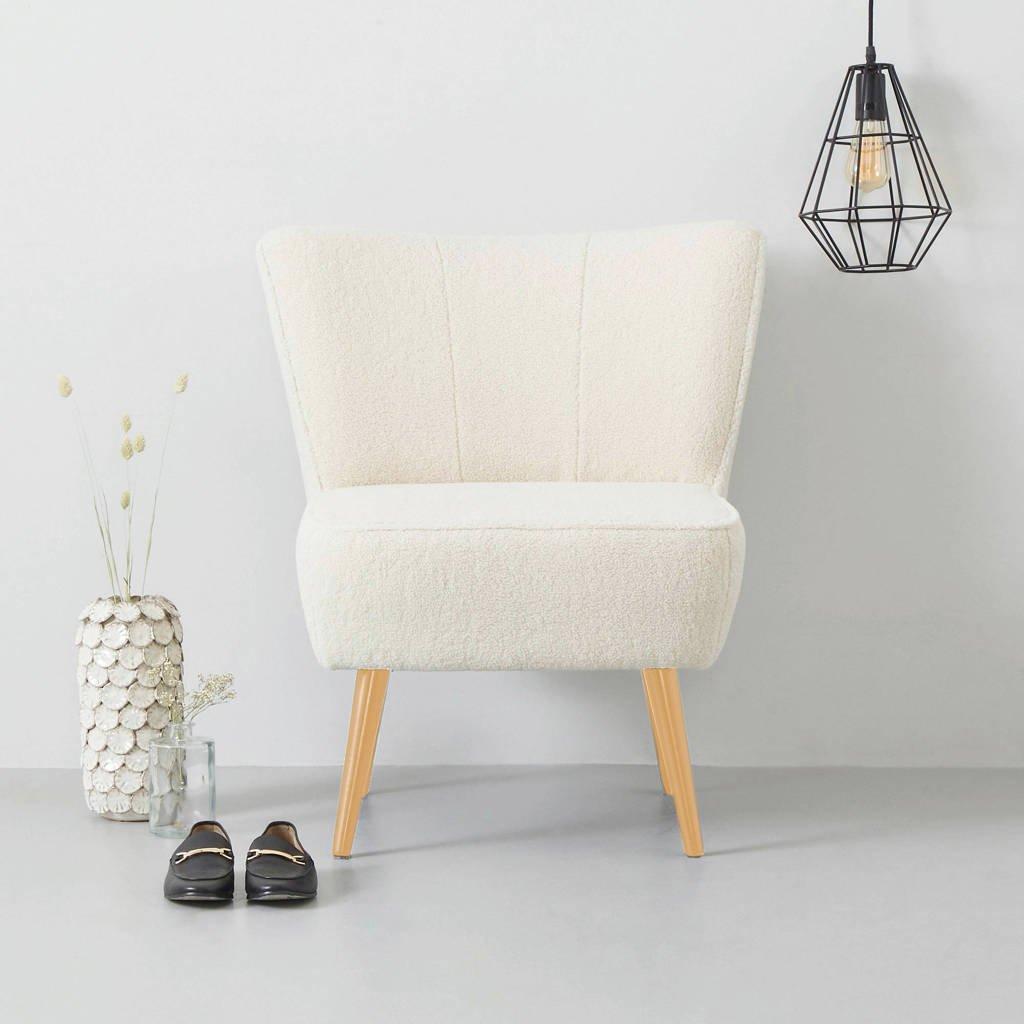 wehkamp home fauteuil Coco teddy, Crème