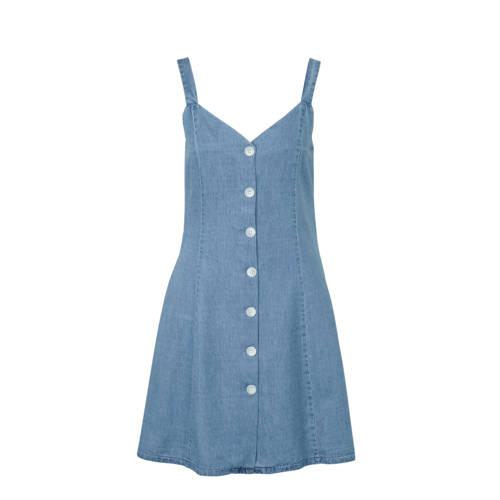 VILA jurk blauw, Deze damesjurk van VILA is gemaakt van een katoenmix. Het model beschikt over een knoopsluiting. De jurk is mouwloos en heeft verder een V-hals.Extra gegevens:Merk: VILAKleur: BlauwModel: Jurk (Dames)Voorraad: 9Verzendkosten: 0.00Plaatje: Fig1Plaatje: Fig2Maat/Maten: 40Levertijd: direct leverbaar
