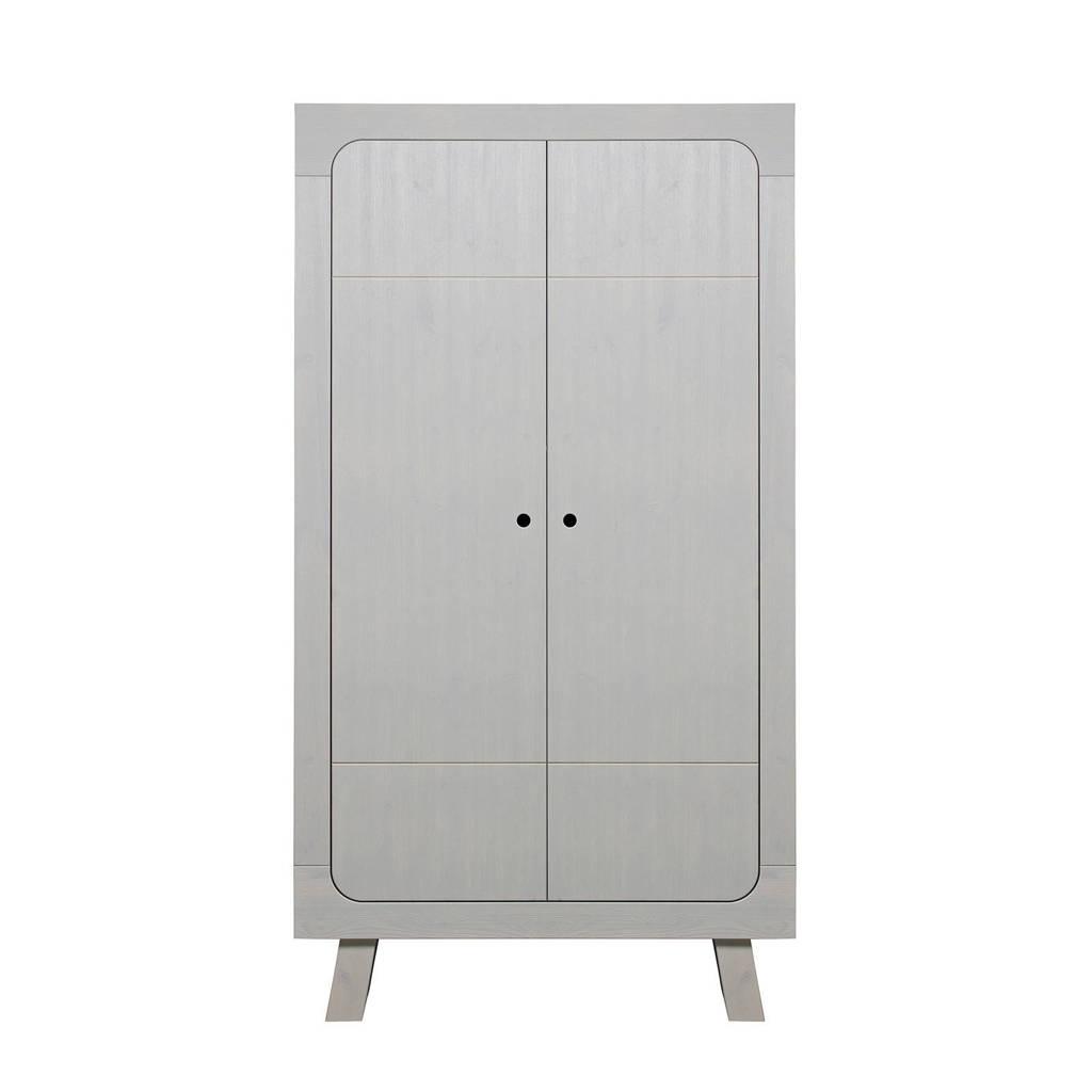 Woood 2-deurs kledingkast Sammie, Warm grijs