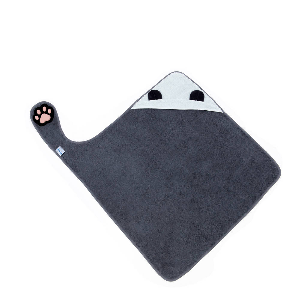Invented 4 Kids badcape panda 75x75 cm, Grijs