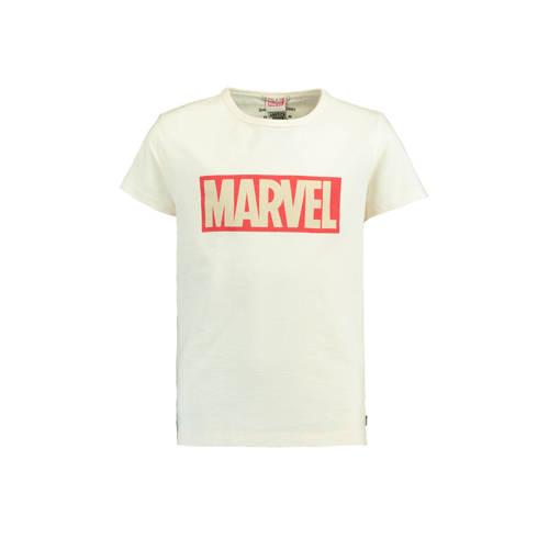 America Today Junior T-shirt Enzo met Marvel tekst ecru kopen