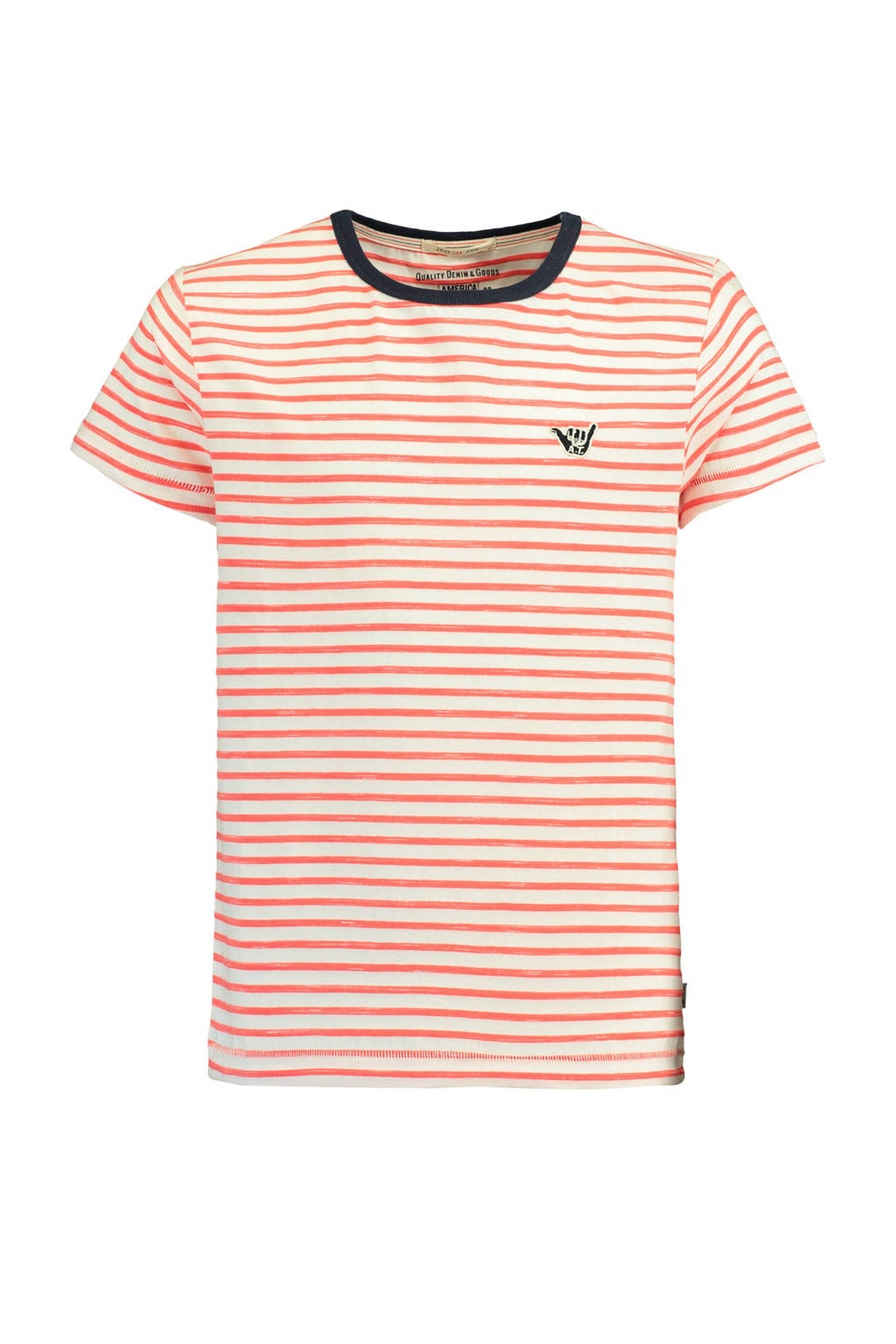 America Today Junior gestreept T-shirt Elias rood, Rood