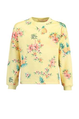 gebloemde sweater Selin geel