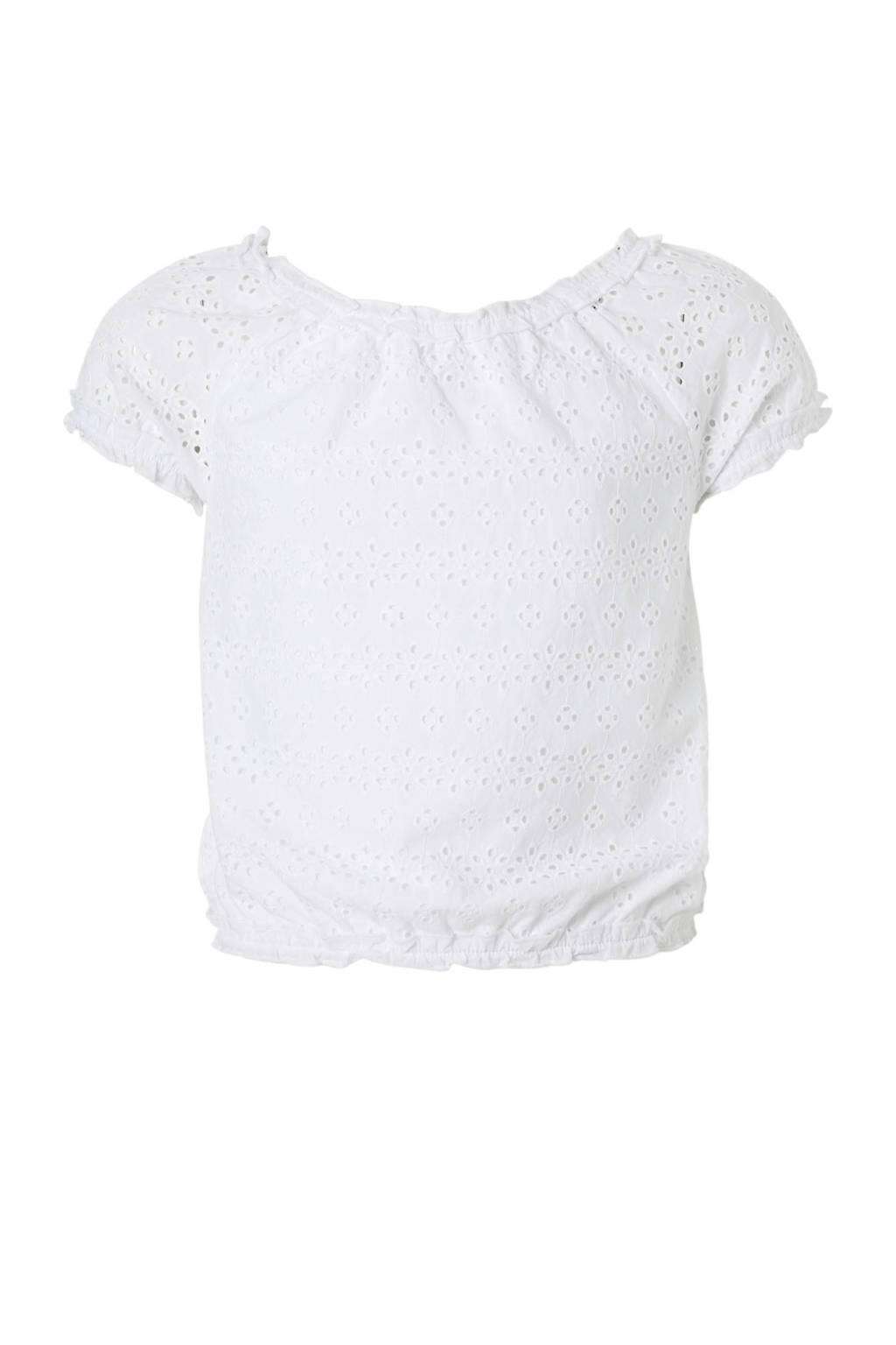 C&A Here & There broderie top wit, Wit