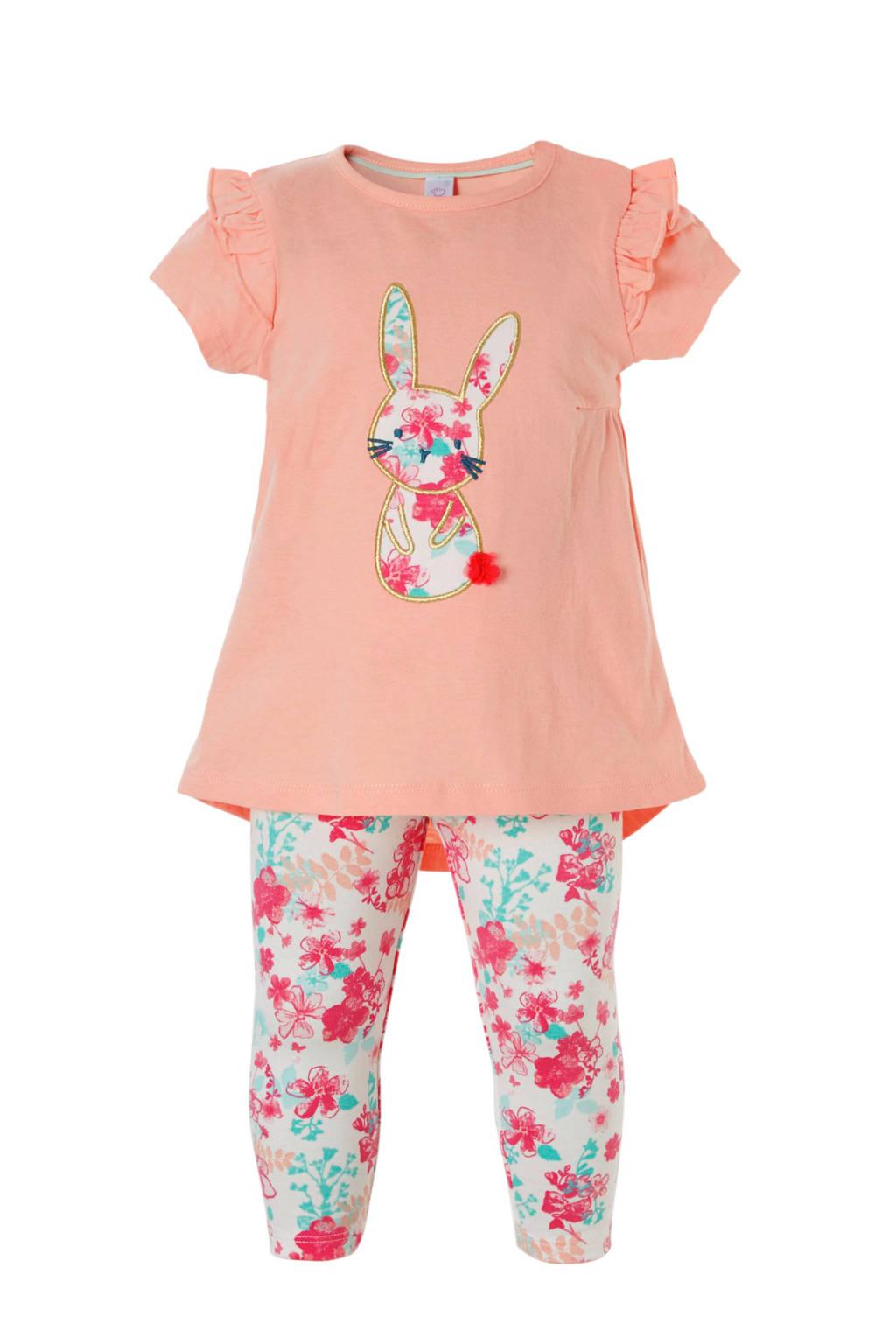 C&A Baby Club jurk + legging + hoofdband, Roze