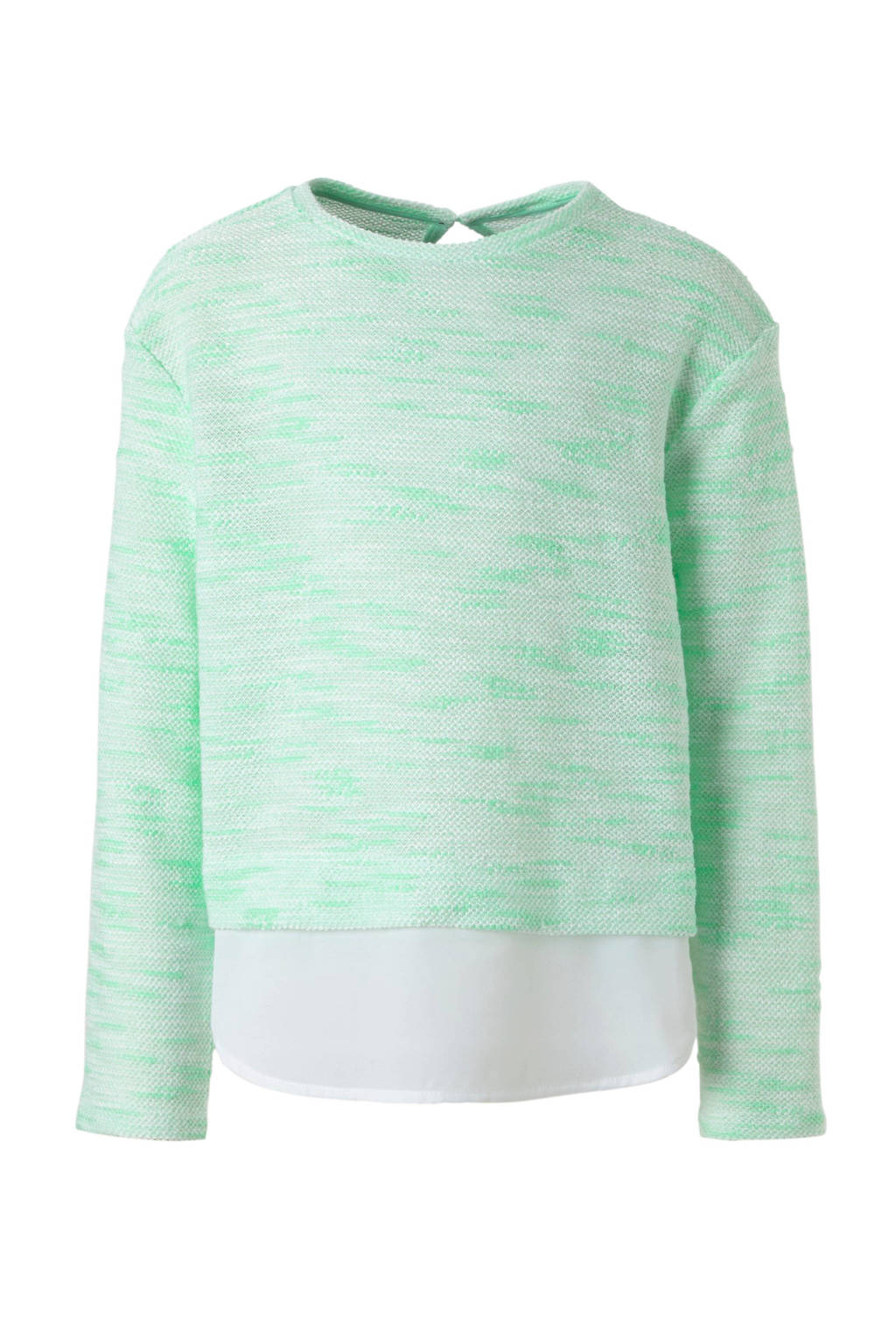 C&A Here & There trui met blousedetail mint, Mintgroen