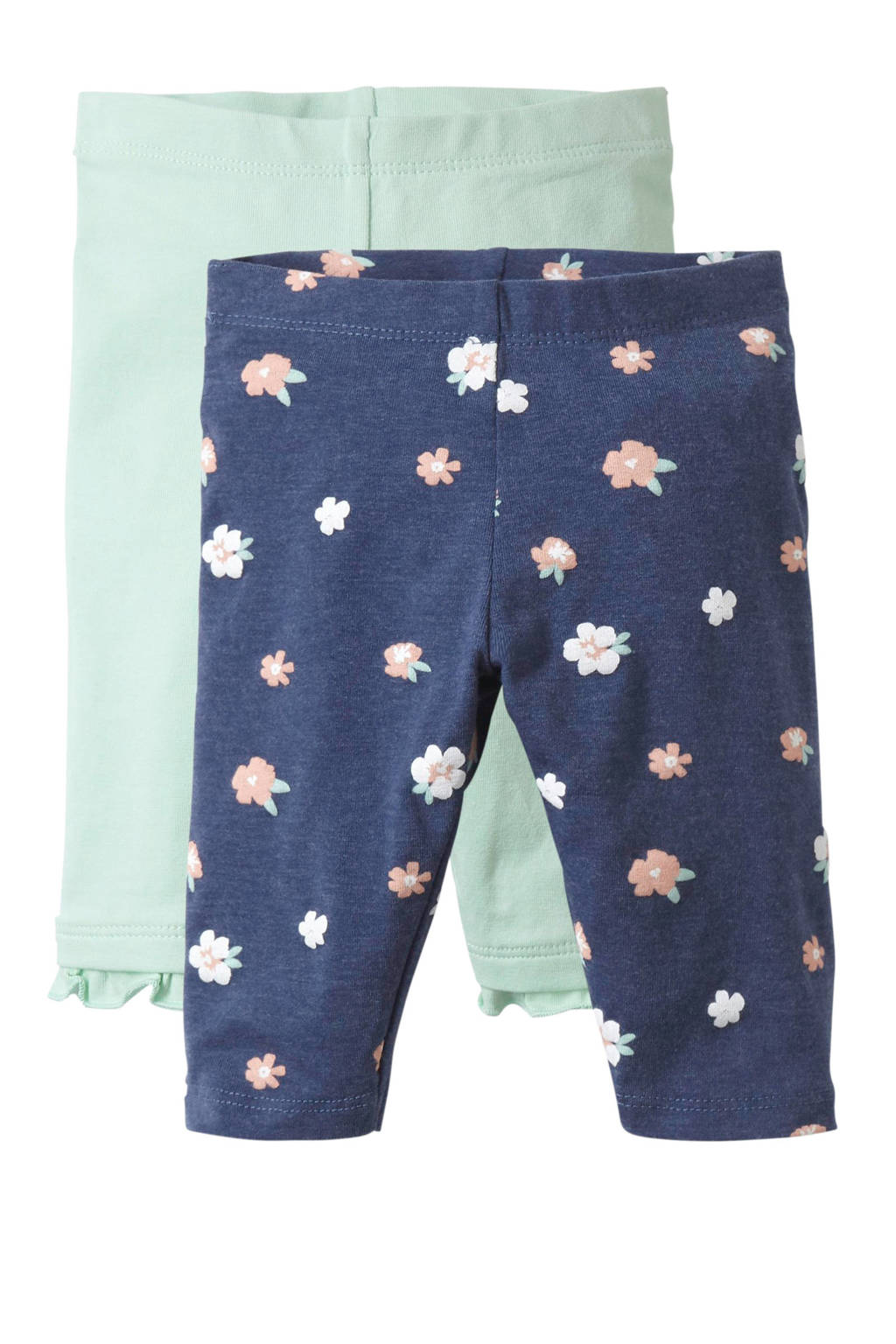 C&A Baby Club legging - set van 2, Mintgroen/blauw