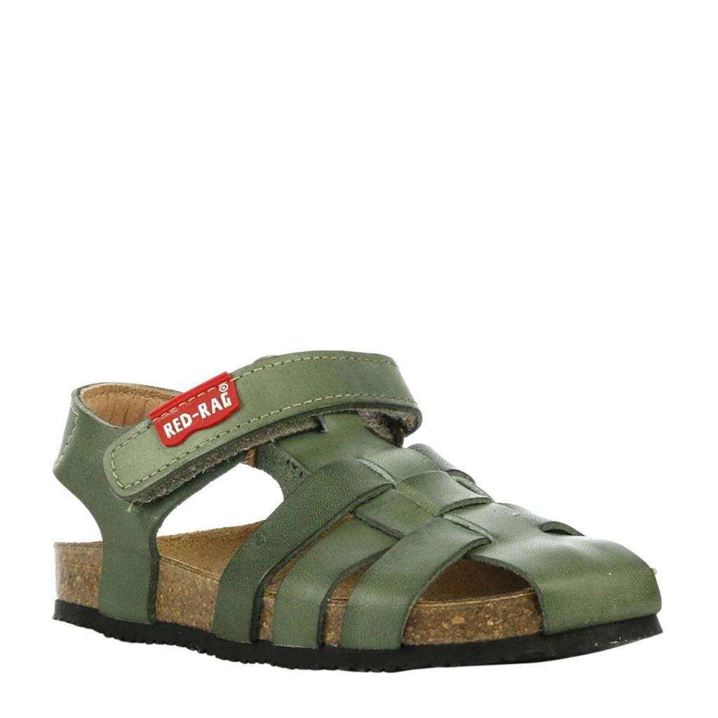Red Rag leren sandalen groen, Groen
