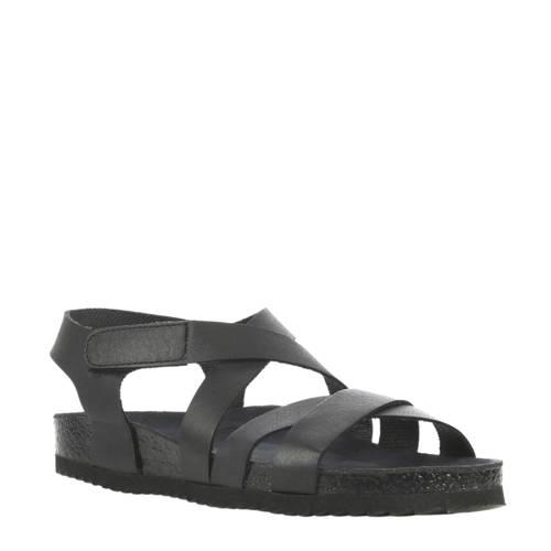 Cashott leren sandalen zwart kopen