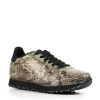 Woden  Ydun Snake  leren sneakers met slangenprint beige, Beige