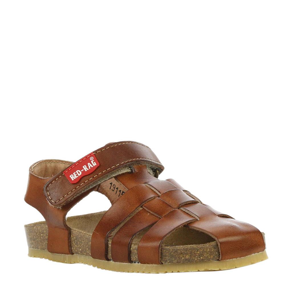 Red Rag leren sandalen bruin, Bruin