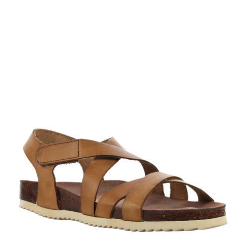Cashott leren sandalen bruin kopen