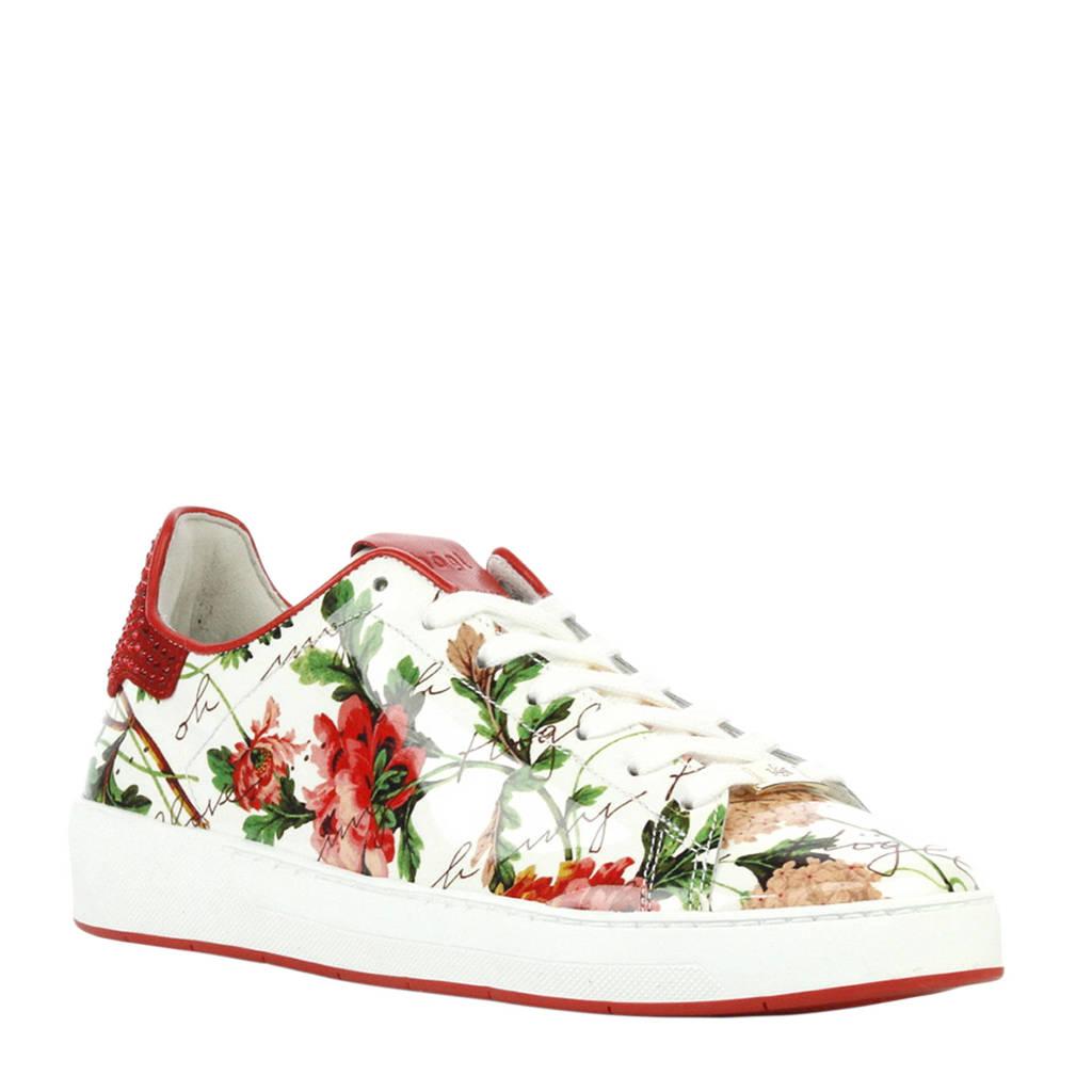 7fb6f2e322e Högl sneakers met bloemenprint, Wit/rood