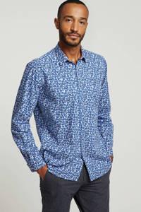 LERROS overhemd met all over print blauw, Blauw