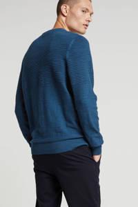 LERROS trui met textuur blauw, Blauw