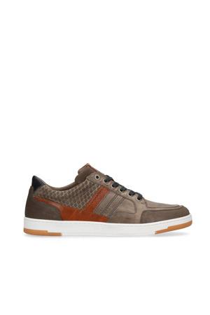 leren sneakers grijs