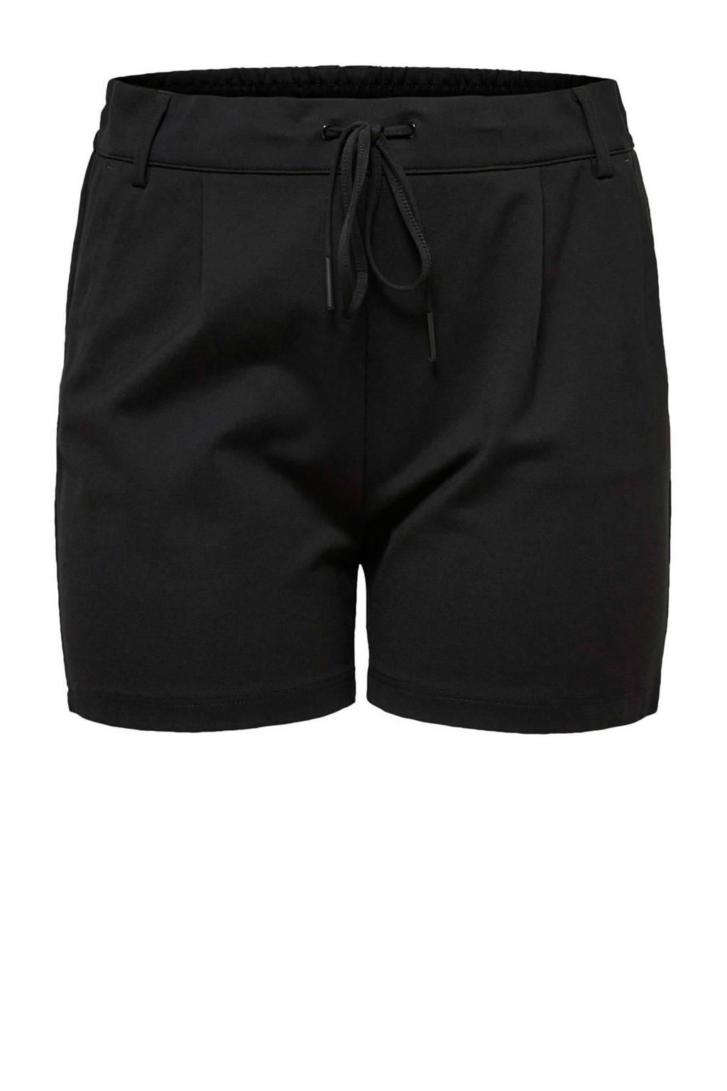 ONLY carmakoma korte broek zwart, Zwart