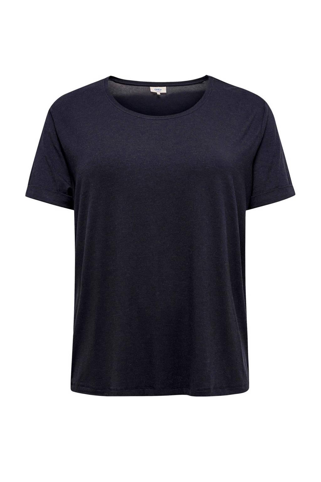 ONLY carmakoma T-shirt donkerblauw, Donkerblauw