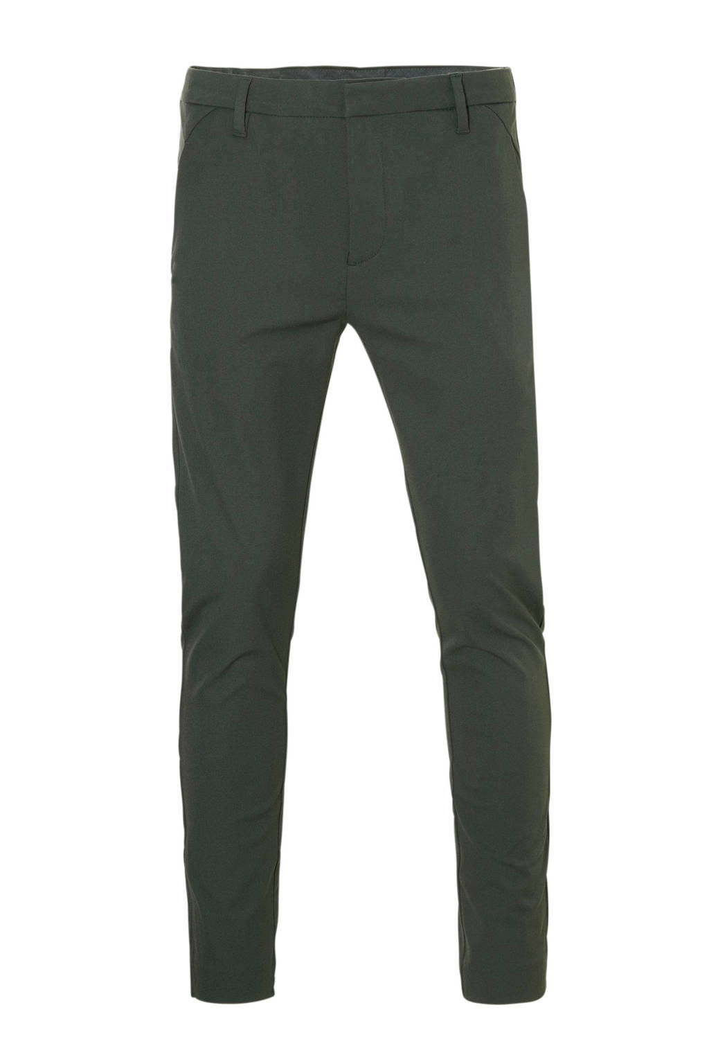 PLAIN slim fit chino, Groen