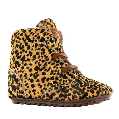 Shoesme leren babyschoenen met luipaardprint