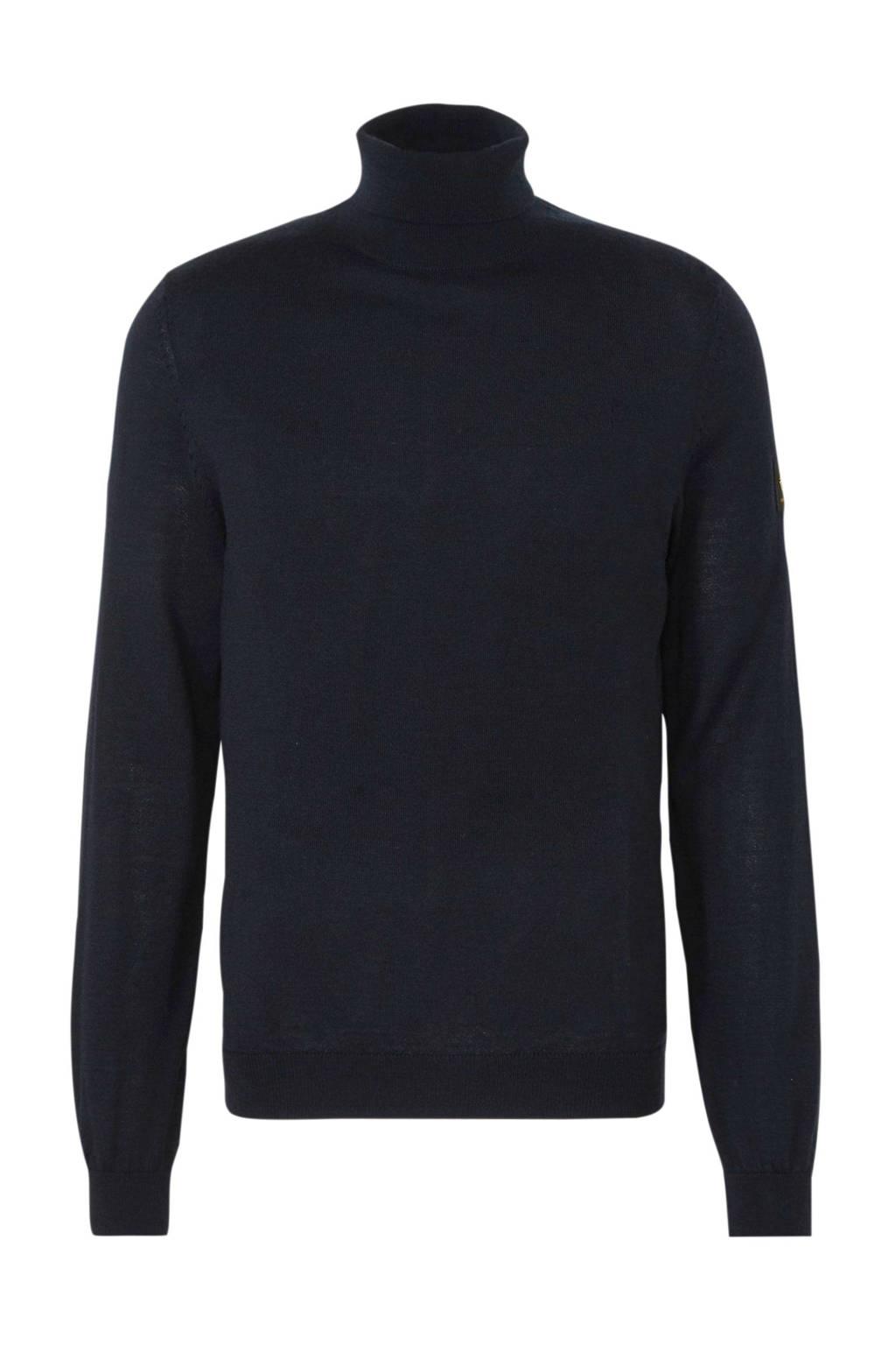 New in Town trui met wol zwart, Zwart