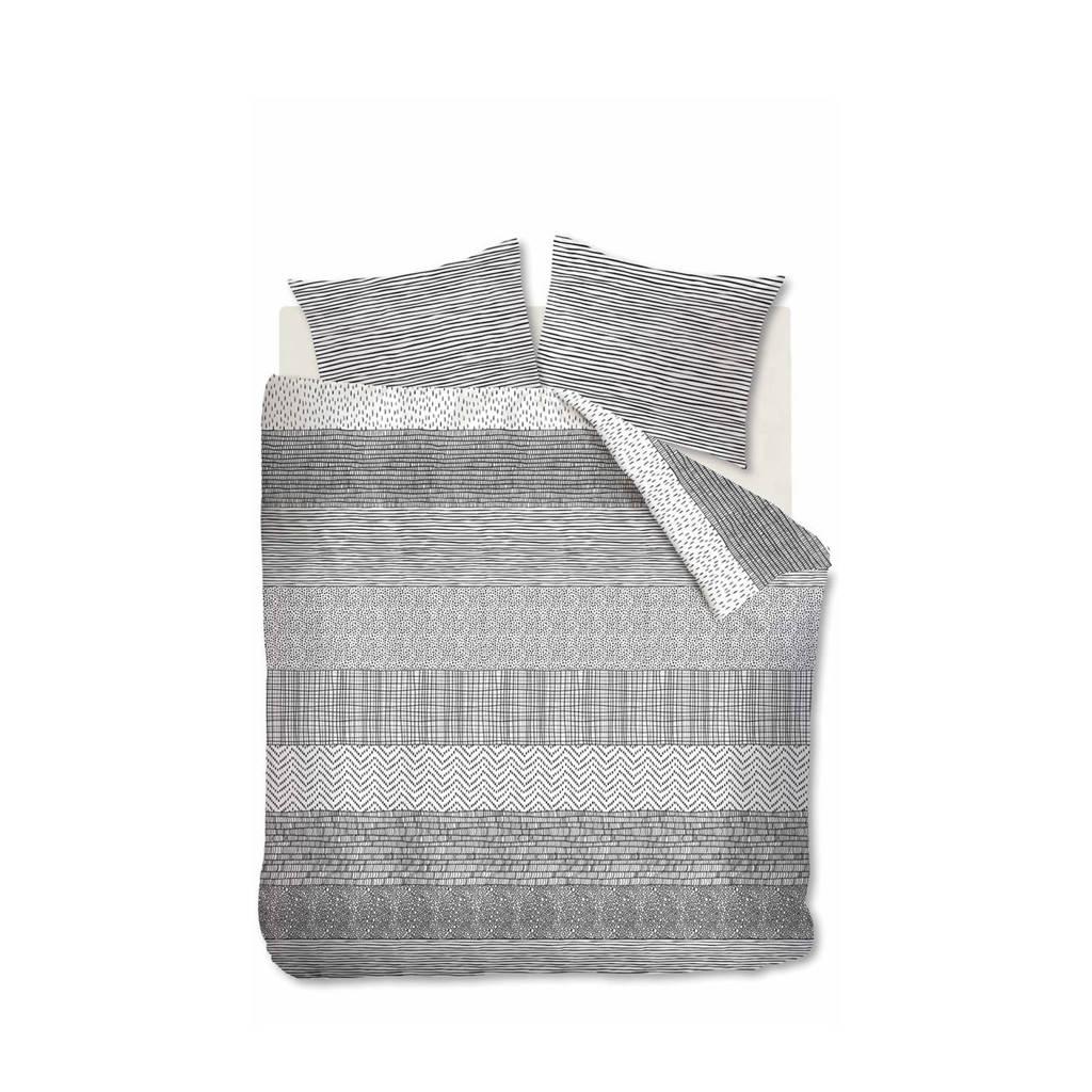 Ambiante katoenen dekbedovertrek lits-jumeaux, Groen