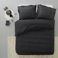 Beddinghouse katoensatijnen dekbedovertrek lits jumeaux, Lits-jumeaux (240 cm breed), Zwart