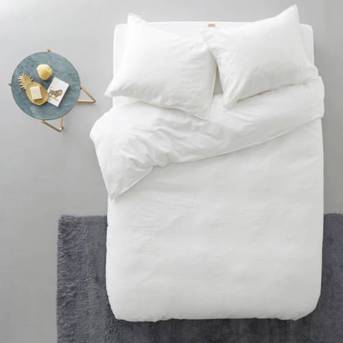 Walra Original Natural Linen Dekbedovertrek Wit- 140x220 cm