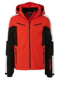 Icepeak ski-jack Fieldon rood/zwart/wit, Rood/zwart/wit