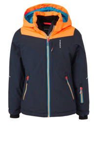 Icepeak ski-jack Leeds donkerblauw/oranje, Donkerblauw/oranje